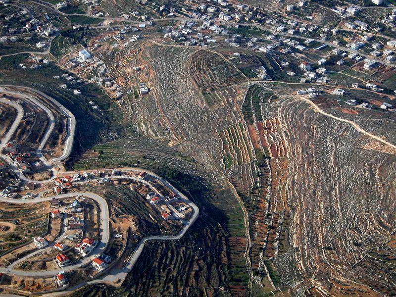 Judean hills terraces aerial, tb q010703
