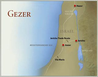 Map_gezer