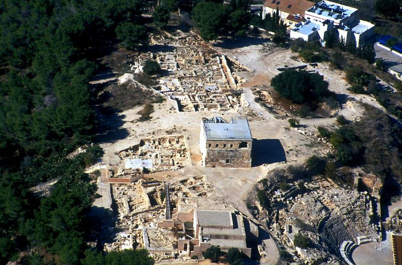 Sepphoris aerial from east, 122-15tb